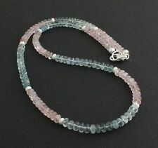 Beryl Necklace Precious Stone Aquamarine, Morganite, Heliodor, Natural Beads