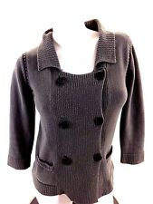 QUIKSILVER WOMENS GRAY COTTON CARDIGAN SWEATER SIZE M