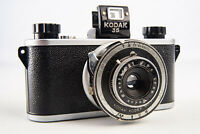 Pre-War Kodak 35 35mm Film Camera with Anastigmat 50mm f/5.6 Lens WORKS V14