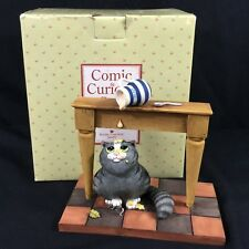 NEW Comic Curious Cats Lucky Cat Figurine 107807 Linda Jane Smith 2002 Retired
