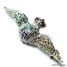1950s QC Silver & Marcasite RAF Sweetheart Brooch Badge - Royal Air Force