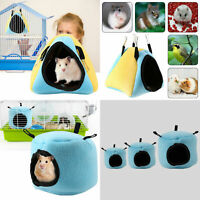 Cute Small Animal Pet Hamster Guinea Pig Winter Warm Hanging Bed Nest House Cage