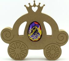Princess Carriage Freestanding MDF Easter Creme Egg holder Craft 18mm thick