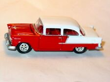 1955 55 CHEVROLET BELAIR SEDAN COLLECTIBLE DIECAST TOY CAR -Red/White, LOOSE