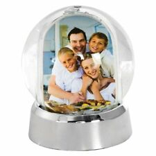 Mini Photo Snow Globe Silver Base New, Free Shipping