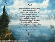 PERSONALIZED POEM FOR YOUR DAD FOR HIS BIRTHDAY OR FATHER'S DAY **L@@K**