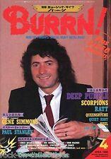 Burrn! Heavy Metal Magazine April 1985 Japan Deep Purple Scorpions Iron Maiden