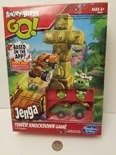Jenga Game Angry Birds GO! Tower Knockdown Hasbro 2013 New w/ box opened.