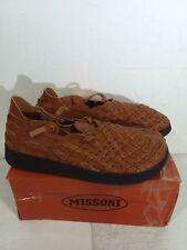 MALIBU x MISSONI Men's Vegan Faux Leather Whiskey Black Sandals Size 13