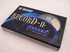 10 x BASF Record II Chrome Blank Audio Cassette 90 Minute Tapes New Sealed Stock