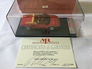 MR COLLECTION MODELS MR54A FERRARI MONDIAL 8 I SERIE  CABRIO 1982 1/43 SCALE RED