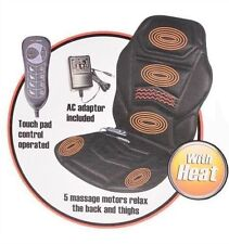 NEW HEATED BACK SEAT MASSAGE CUSHION CHAIR MASSAGE OFFICE HOME RELAX STRESS ETC