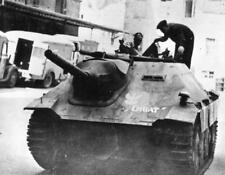 Photo. WW2. 1944. Warsaw Uprising - captured Nazi tank