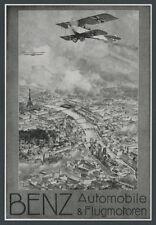 Luftwaffe Fliegertruppe Jasta Luftkampf üb. Paris Benz Flugmotoren Mannheim 1917