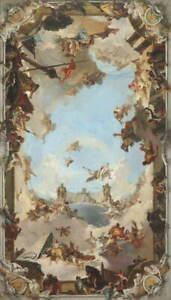 Giovanni Battista Tiepolo Wealth and Benefits Giclee Canvas Print LARGE SIZE