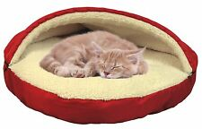 Fleecy Pet Cave Round Soft Bed for Small Dog or Cat with Removable Top 25 inches