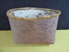 Athabascan Birch Bark Folded Basket for Food & Water Collection & Storage Eskimo