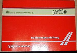 Betriebsanleitung pride KIA MOTORS   Handbuch Ausgabe 1997 + Service Heft