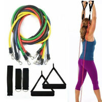 Resistance Band Set 11 PCS Fitness Workout Yoga Pilates Abs Exercise Bands Tube