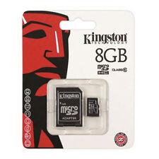 Speicherkarte Micro SDHC Kingston 8GB + SD Adapter schwarz, *NEU*