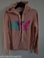 NWT Women American Eagle AE NYC FLEECE HOODIE PEACH L