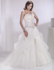 Bridal  Wedding Dress Ball Gown Private Label BY G 1419 Ivory/Silvr Size 6 NEW