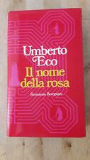 Umberto Eco, Il nome della rosa, Bompiani prima edizione 1980, eccellente stato
