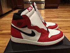 """2015 Nike Air Jordan 1 Retro High OG """"Chicago"""" Bred 555088-101 Size 17 NEW"""