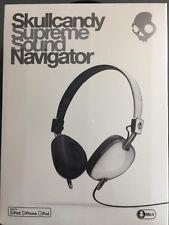 $100 Skullcandy Supreme Sound Navigator Headphone W Mic white black