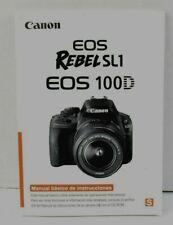 Canon EOS Rebel SL1 EOS 100D Camera User Manual SPANISH VGC (482)