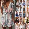 New Womens Summer Holiday Mini Playsuit Ladies Jumpsuit Beach Shorts Mini Dress