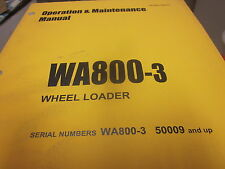 Komatsu WA800-3 Wheel Loader Operation & Maintenance Manual s/n A50009 & Up