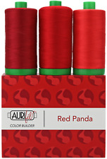 Aurifil 40WT Colour Builders Red Panda x 3 Spools 1000 metres 5002 2250 1103