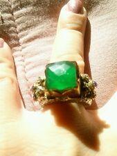 Anello ANTICO  antico uomo donna  smeraldo  mis 17 ring