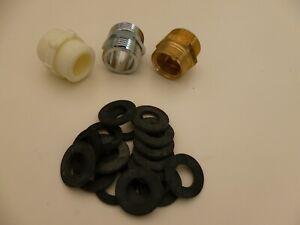 """Threaded Outside / washing Tap Adaptor 5/8"""" & 1/2"""" to 3/4"""" Hozelock Hose washer"""