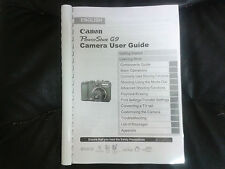 Canon PowerShot G9 FULL User Manual Manuale istruzioni stampate 274 pagine A5