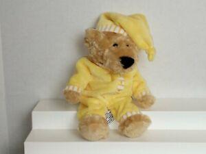 """F.A.O. Schwarz Saturday Sleepytime Bear 8"""" Yellow Bean Bag Stuffed Plush Toy"""