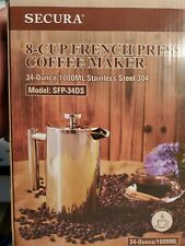 SECURA~NIB  8-Cup Stainless Steel French Coffee Press Model SFP-34DS  New!