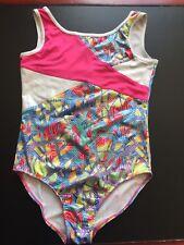 GYMNASTICS LEOTARD FUTURE STAR LARGE CHILD LC Sleeveless pink Blue