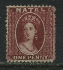 Natal QV 1863 1d red unused no gum