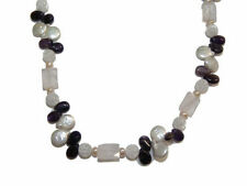 Crystal Pearl Stainless Steel Costume Necklaces & Pendants