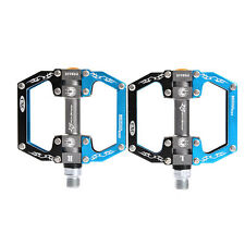 ROCKBROS Bike Bicycle Pedals Cycling Sealed Bearing Flat/Platform Pedals Blue
