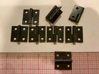 "Vintage old new stock black Hinges Lot of 8  pcs 1""  x 1"" 2 knuckles"