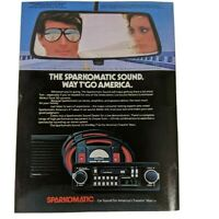 Vintage Print Ad 1983 Sparkomatic Car Stereo Supertramp World Tour Rearview
