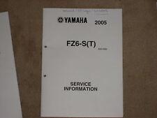 YAMAHA FZ6-S(T) MAINTENANCE MANUAL SERVICE INFORMATION SERVICE HANDBOOK 05