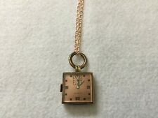 Swiss Made Clinton Mechanical Wind Up Necklace Pendant Watch