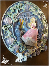 ASSIETTE DECORATIVE THE FRANKLIN MINT EN RESINE CENDRILLON HEURE MAGIQUE GO4609