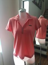 TEHAMA Ladies Coral Pink Golf Performance T-Shirt Polo Shirt Size S Retail $65