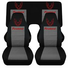 FITS 82-92 PONTIAC FIREBIRD TRANS AM CAR SEAT COVERS FRONT AND REAR  COTTON