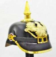 Leather German FR Officer 039 Prussian Pickelhaube Helmet Wearable WWI